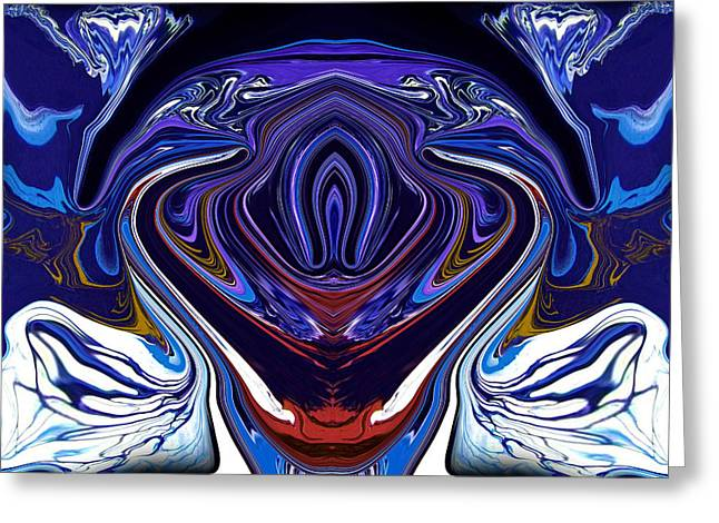 White Paintings Greeting Cards - Abstract 171 Greeting Card by J D Owen