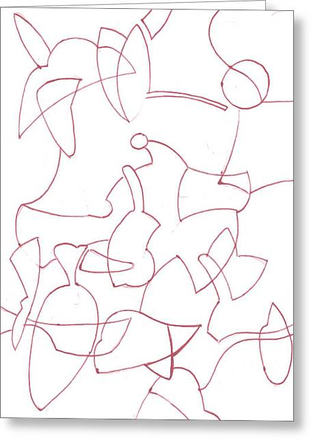 Geometric Artwork Drawings Greeting Cards - Abstract 2 Greeting Card by Amy Lee