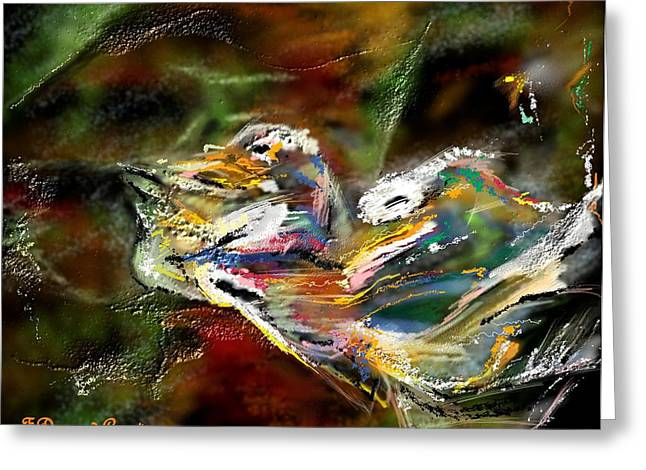Abstract Digital Paintings Greeting Cards - Abstract 2 Greeting Card by Francoise Dugourd-Caput