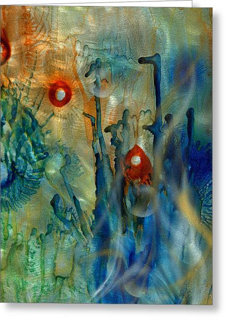 Recently Sold -  - Aquarium Fish Greeting Cards - Abstract 2 Greeting Card by Luis  Navarro