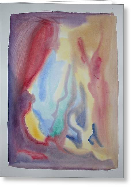 Flooding Drawings Greeting Cards - Abstract 2014 Nr 3 Greeting Card by Ad Boogers