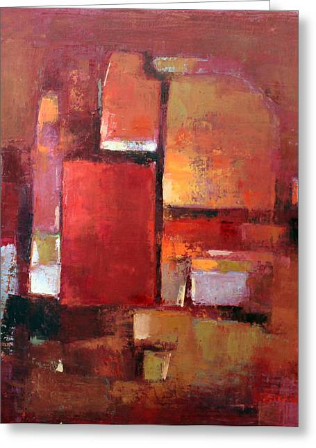 Pallet Knife Greeting Cards - Abstract 2015 05 Greeting Card by Becky Kim