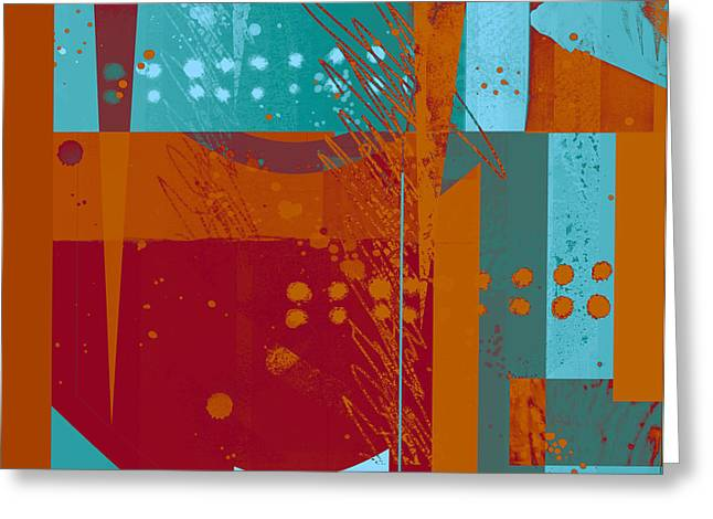 Geometric Style Greeting Cards - Abstract 203 Greeting Card by Ann Powell