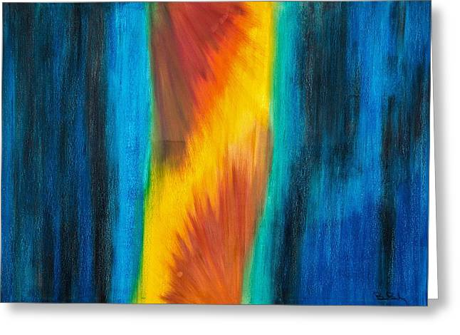 Acting Paintings Greeting Cards - Abstract 21 Omnes Mundi Theatro All the Worlds  Stage Greeting Card by Brian Broadway