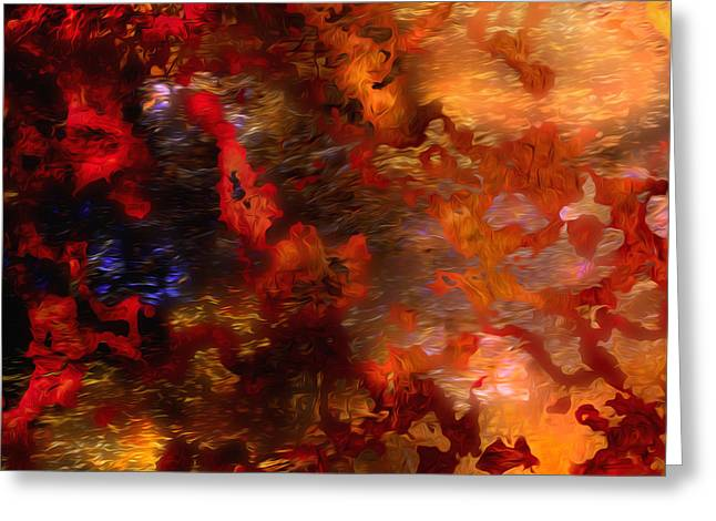 Abstract 21214a Greeting Card by Daniel Mowry