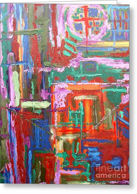 T Shirts Greeting Cards - Abstract 27 Greeting Card by Patrick J Murphy