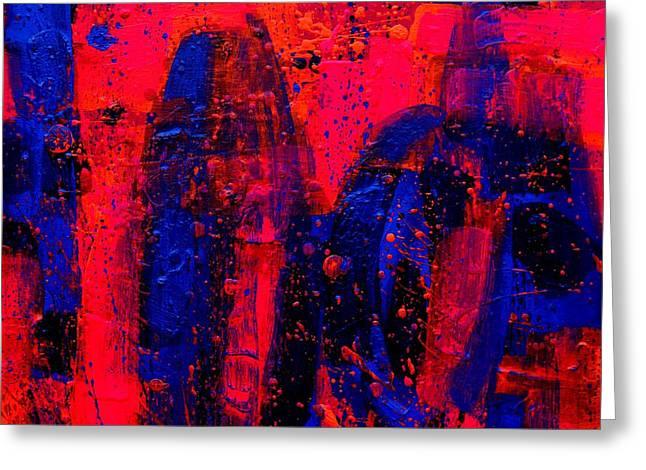 Tropical Mixed Media Greeting Cards - Abstract 28115 Greeting Card by John  Nolan