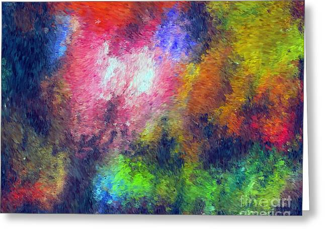Abstract 296 Greeting Card by John Krakora