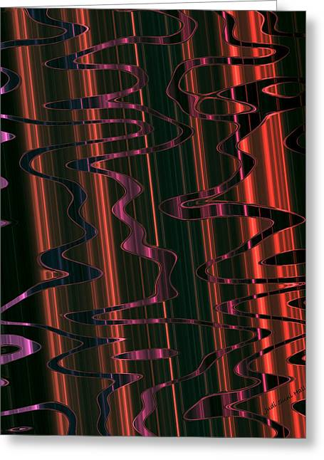 Algorithmic Abstract Greeting Cards - Abstract 327 Greeting Card by Judi Suni Hall