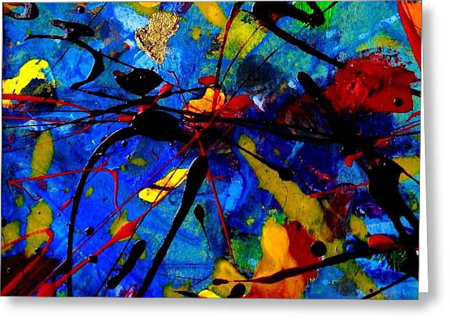 Oil Mixed Media Greeting Cards - Abstract 39 Greeting Card by John  Nolan