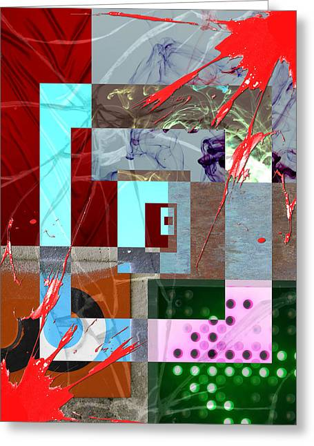 Bush 41 Greeting Cards - Abstract 41 Greeting Card by Jimi Bush