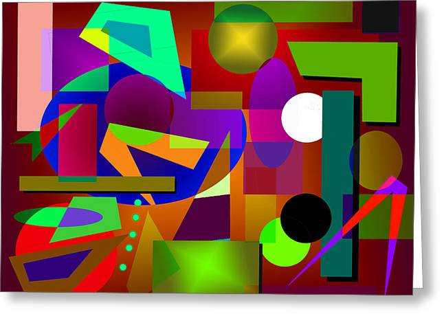 Rectangles Greeting Cards - Abstract 43A Greeting Card by Timothy Bulone