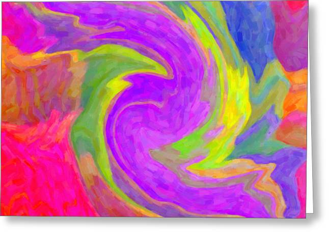 Abstract 44 Greeting Card by Kenny Francis