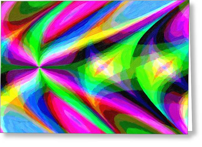 Abstract 45 Greeting Card by Kenny Francis
