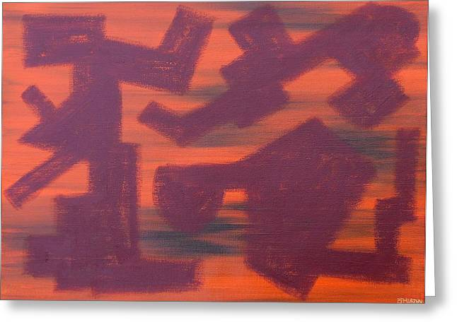 Tablets Paintings Greeting Cards - Abstract 451 Greeting Card by Patrick J Murphy