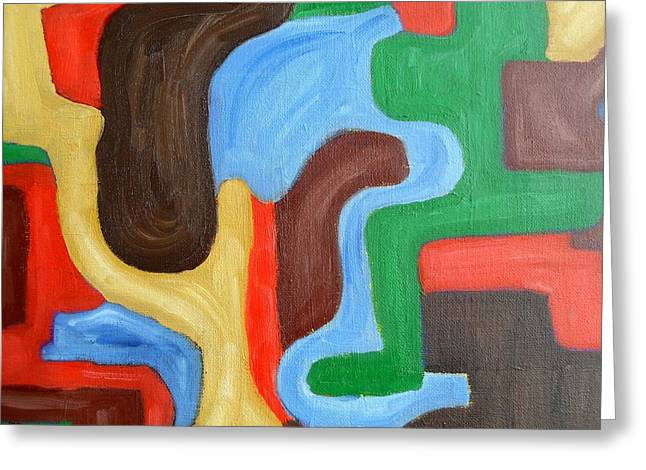 Tablets Paintings Greeting Cards - Abstract 470 Greeting Card by Patrick J Murphy
