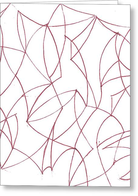 Geometric Artwork Drawings Greeting Cards - Abstract 5 Greeting Card by Amy Lee