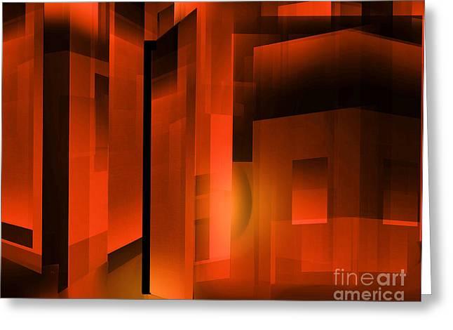 Abstract 500 Greeting Card by John Krakora