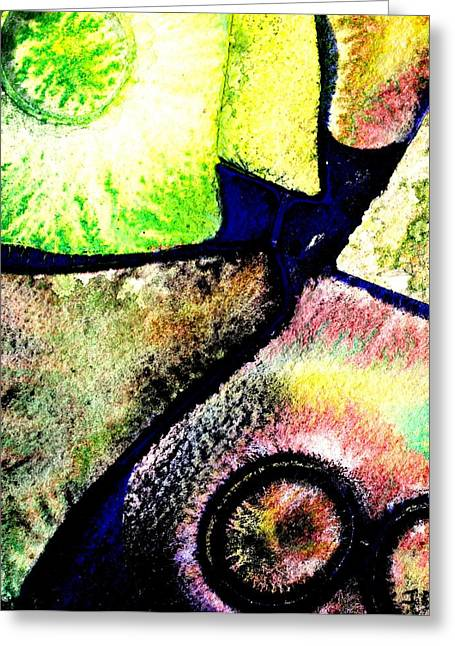 Abstract  57 Greeting Card by John  Nolan