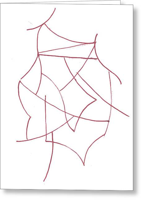 Geometric Artwork Drawings Greeting Cards - Abstract 6 Greeting Card by Amy Lee