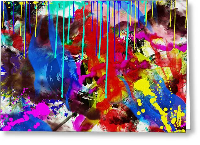 D.w. Digital Art Greeting Cards - Abstract 6832 Greeting Card by Sir Josef Putsche