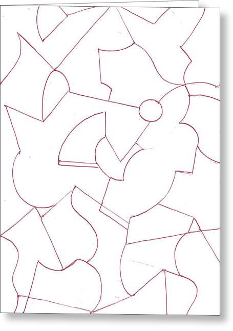 Geometric Artwork Drawings Greeting Cards - Abstract 7 Greeting Card by Amy Lee