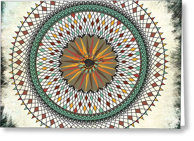 Abstract 7 Greeting Card by April Gann