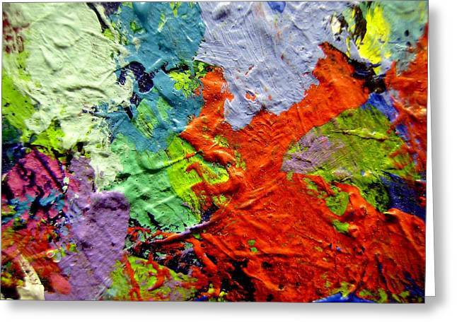Mix Medium Paintings Greeting Cards - Abstract 7 Greeting Card by John  Nolan