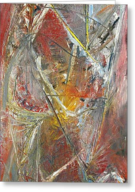 Abstract Expressionist Greeting Cards - Abstract 7 Greeting Card by Wayne Carlisi