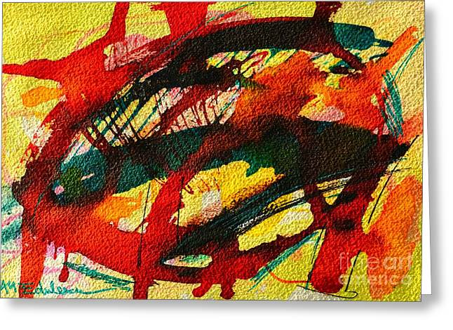 Abstract 73 Greeting Card by Ana Maria Edulescu