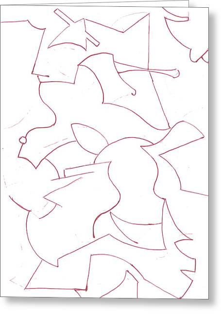 Geometric Artwork Drawings Greeting Cards - Abstract 8 Greeting Card by Amy Lee
