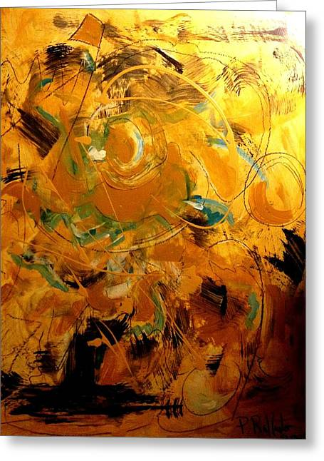Etc. Paintings Greeting Cards - Abstract #8 Greeting Card by Patrick Raffaelo