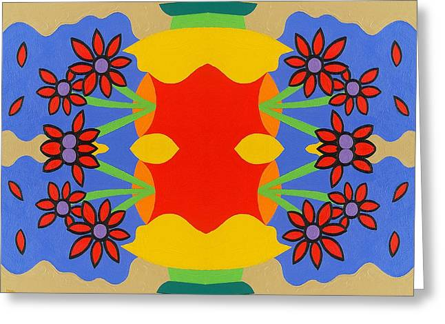 Flower Still Life Prints Greeting Cards - Abstract 810 Greeting Card by Patrick J Murphy