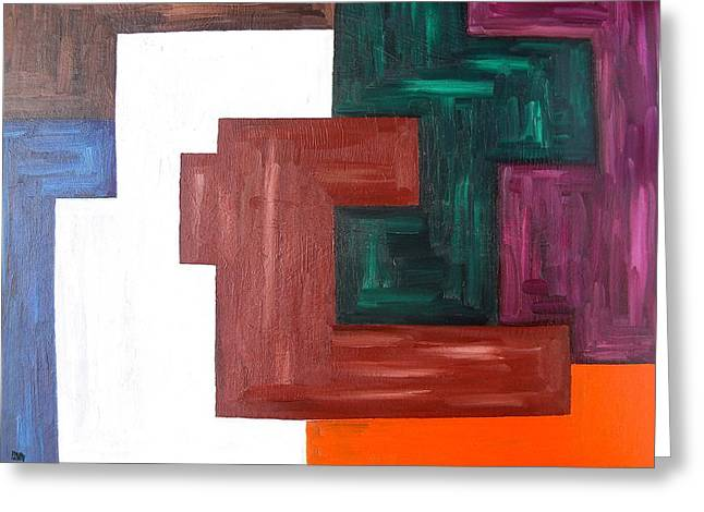 Richter Greeting Cards - Abstract 850 Greeting Card by Patrick J Murphy