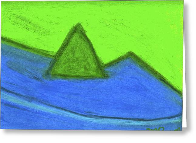 Abstract Forms Pastels Greeting Cards - Abstract 92-001 Greeting Card by Mario Perron