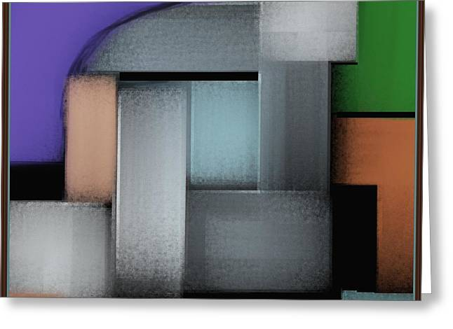 Geometric Digital Art Greeting Cards - Abstract 959 Greeting Card by Nedunseralathan R