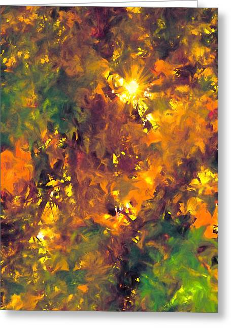 Abstract 98 Greeting Card by Pamela Cooper