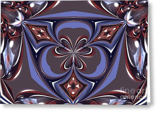 Abstract A027 Greeting Card by Maria Urso