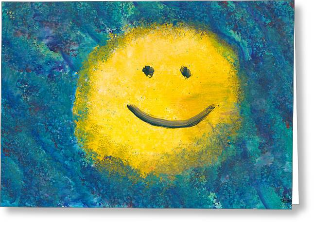 Abstract - Acrylic - Happy Abstraction Greeting Card by Mike Savad