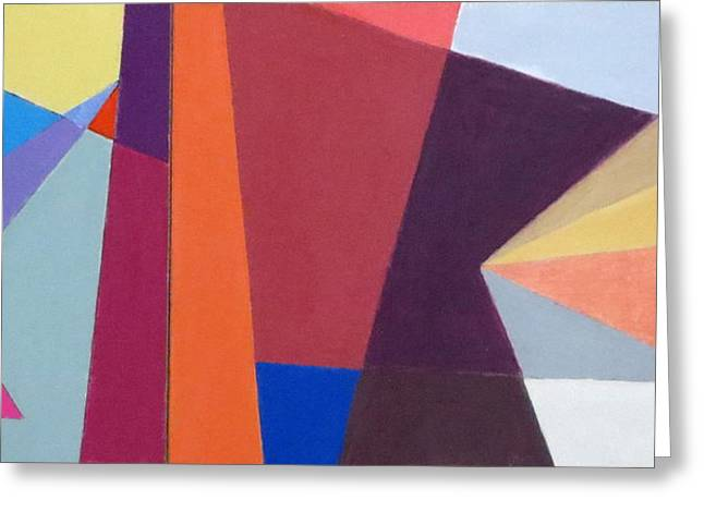 abstract angles I Greeting Card by Diane Fine
