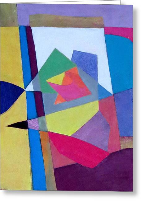 Diane Fine Greeting Cards - Abstract Angles II Greeting Card by Diane Fine