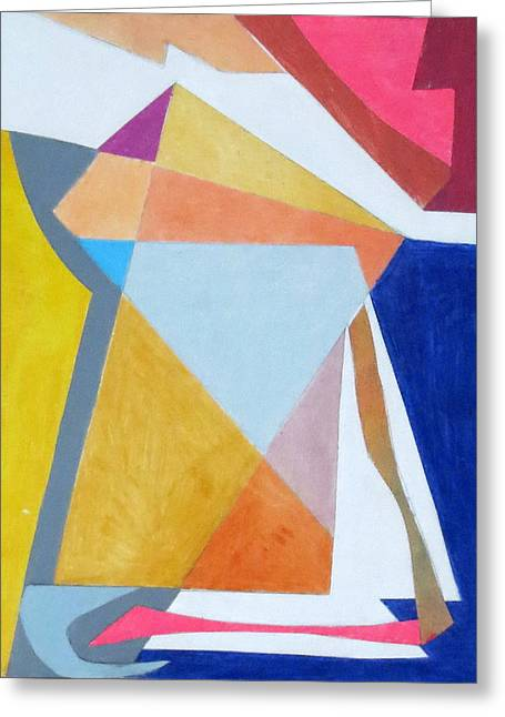 Diane Fine Greeting Cards - Abstract Angles III Greeting Card by Diane Fine