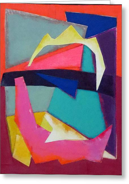Abstract Angles Iv Greeting Card by Diane Fine