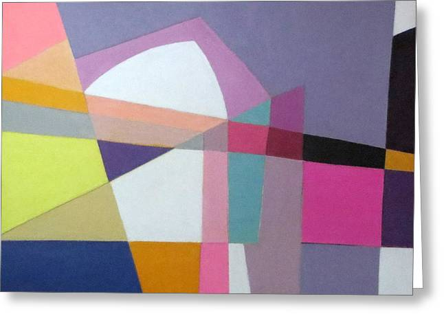 Diane Fine Greeting Cards - Abstract Angles IX Greeting Card by Diane Fine