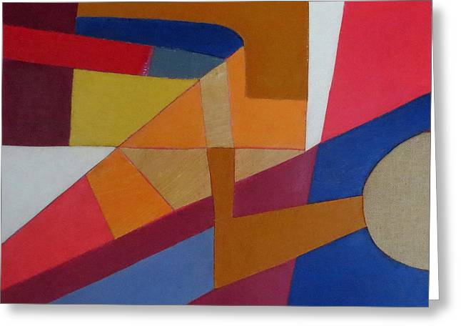 Diane Fine Greeting Cards - Abstract Angles VIII Greeting Card by Diane Fine