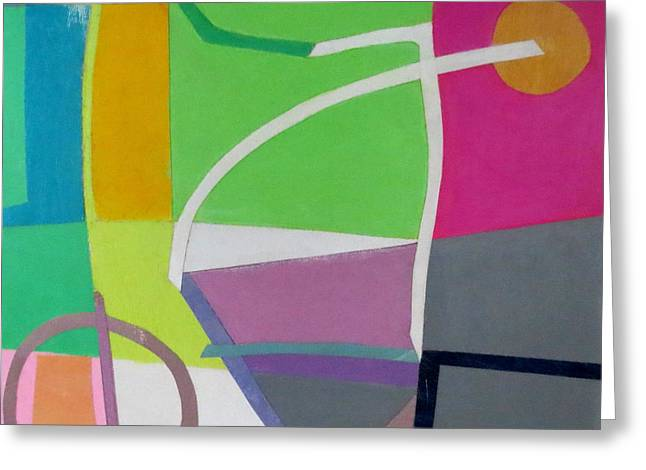 Diane Fine Greeting Cards - Abstract Angles X Greeting Card by Diane Fine