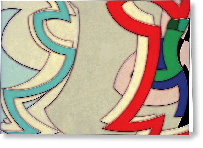 Decorative Greeting Cards - Abstract Arcs Greeting Card by Gary Grayson