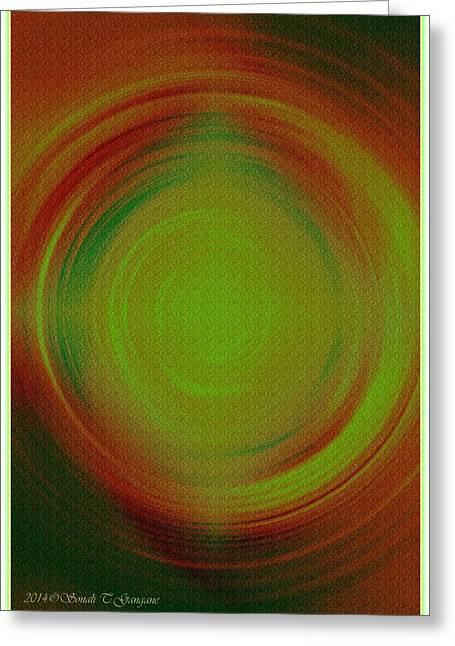 Mandal Greeting Cards - Abstract Art 3 Greeting Card by Sonali Gangane
