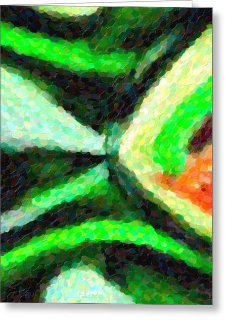 Abstract Art Bottle Greeting Card by Toppart Sweden