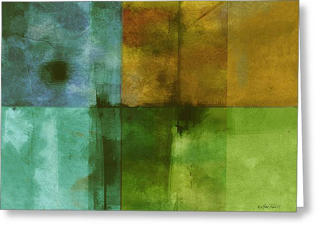 abstract - art- Color Block Rectangle  Greeting Card by Ann Powell